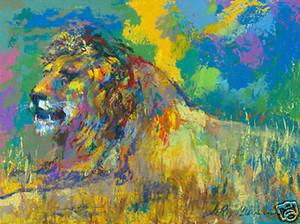 르로이 네이 맨 - 캔버스에 LION 홈 인테리어 지에 handpainted HD 인쇄 유화 휴식 벽 아트 캔버스 사진 191102