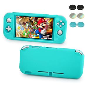 Housse de protection pour Nintendo Commutateur Grip Lite Cover silicone souple avec ergonomique amortissantes et Design Anti-rayures turquoise