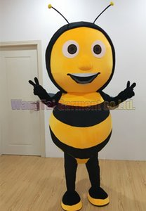 New Bee mascot costume Top grade deluxe cartoon character costumes Apis Florea mascot suit Fancy dress party carnival Free Shipping