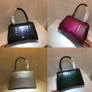 Designer Umhängetasche brandhandbag Messenger Tasche SANDUHR XS Top Griff Tasche Schulter Handtaschen Handtasche Krokodilmuster Frauen Taschen Tote