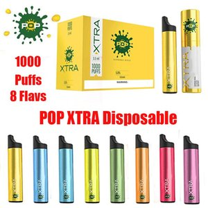 New POP XTRA Disposable Vape Pen Pre-filled 3.5ml 1000puffs Starter Kit Device System Vaporizer Cartridges Pods e Cigs Vapor Fast Shipping