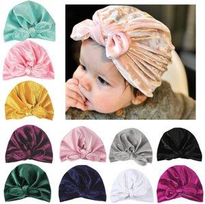 Осень Зима Новый бархат Детские Hat для девочек Baby Boy Cap фотография Реквизит Упругие Infant Beanie Hat Тюрбан Аксессуары для младенцев