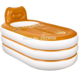 Size 160 * 92 * 75 cm, with pump, thick leather pattern inflatable tub, adult folding bathtub, bathtub, plastic bathtub
