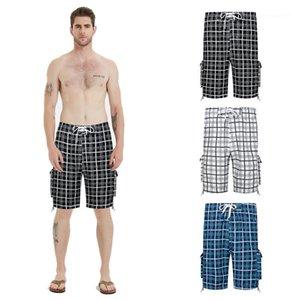 Breathable Multicolor Casual Male Designer Shorts Mens Plus Size Plaid Strand Shorts Summer Fashion Lose