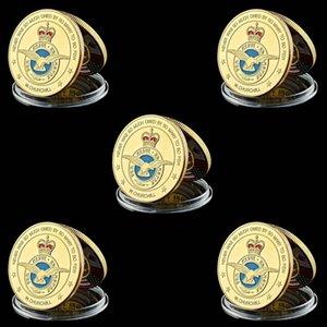 5 adet meydan Para Lüksemburg Kraliyet Hava Kuvvetleri Asker Emekli 1oz Altın Kaplama Coin Askeri Hatıra Para