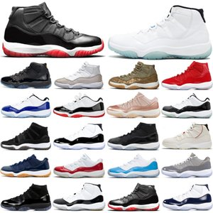 nike air jordan retro 2019 Bred 11s 11 мужчины и женщины баскетбольные кроссовки Concord Metallic Silver Cap и Gamma Blue мужские спортивные кроссовки