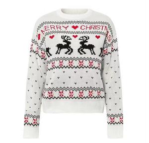 Camisola do Natal do velo das mulheres de Inverno Moda Estilo Camisola feia de Natal Camisolas Tops For Women Pullovers Asiático Tamanho S-XL