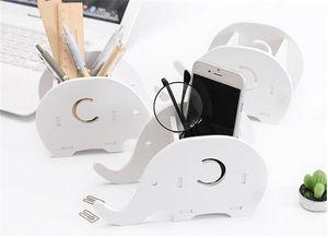 Yeni Housekeeping Fil DIY Ofis Masaüstü Saklama Kutusu Kalem Telefon Raf Tutucu Konteyner Masaüstü Eşyalar Organizatör Kırtasiye Depolama