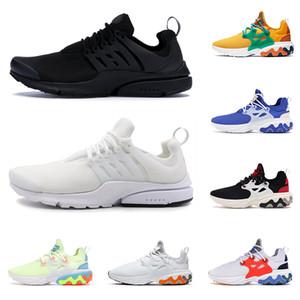 2020 nike presto react reagire uomo donna scarpe da corsa DHARMA triple black Breakfast Teal Tint Barely Volt mens trainer sneaker sportive traspiranti runner