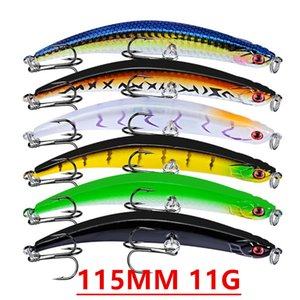 Mixte 6 Couleur 115mm 11g VIB Pêche Crochets Hameçons 4 # Crochet en plastique dur Appâts Leurres Pesca Pêche Tackle Accessoires