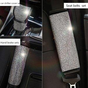 STRASS voiture Shifter Covers voiture Set Poignées de frein à main Ceinture de protection Intérieur Accessoires pour les filles de femmes