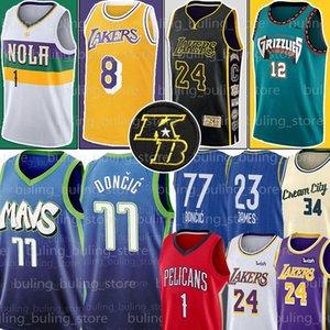 NCAA All Ja 12 Morant Jersey estrela Luka 23 James 77 Doncic Kawhi Zion 1 Williamson Jersey 2 Leonard Giannis 34 Antetokounmpo Jerseys