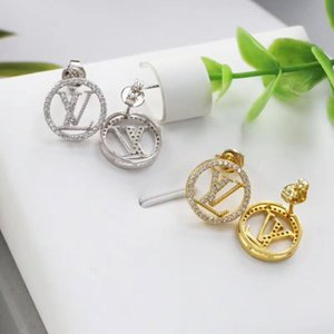 Women Fashion Casual Round Shape Hollow Out Push Back Gold Silver Rose Gold Earrings