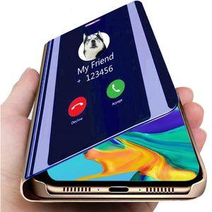 Caso elegante de lujo del espejo del teléfono Para Google Pixel 4A 3A XL Borrar cuero del tirón del caso para Motorola Moto Plus G8 G8 Energía