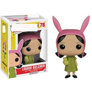 Cute FUNKO POP happy burger Louise Belcher Louise anime action figure hand office doll decoration model toy 78 #