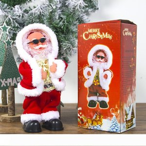 Electric Santa Claus Doll Dancing Singing Music Automatic Toy Cute Christmas Plush Doll Toys Merry Christmas Decorations new GGA2801