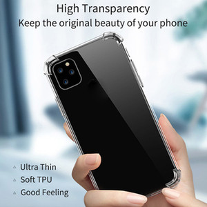 Transparent Phone Case For iPhone 11 Pro Max XS X SE Clear TPU Case Samsung Galaxy S20 Plus Ultra