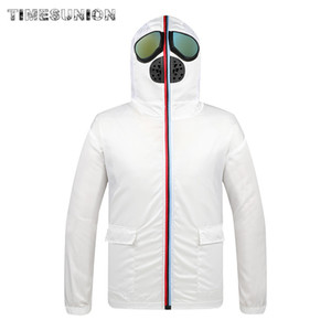 Jacket Slim Brand Hooded Protective Coats Zipper Coat Full Coverall Outerwear Outwear Casual Face Men's Fashion Mens Male Mask Ekfsw Qodlh