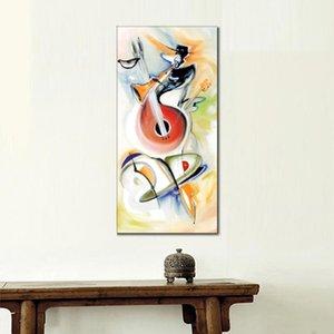pinturas Alfred Gockel en venta Jammin moderno arte de la lona de alta calidad pintado a mano de la música abstracta para pinturas decorativas de pared
