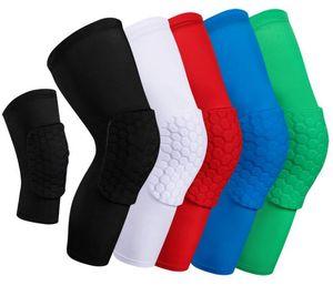 Honeycomb Sock Sport Safety Basketball Sports Kneepad Padded Knee Brace Compression Knee Sleeve Protector Knee Pads 2019