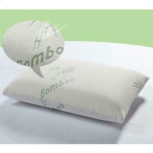 New 2pcs Bamboo Pillow Memory Foam King Size Improved Version Hypoallergenic