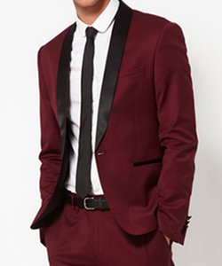 High Quality One Button Groomsmen Shawl Lapel Groom Tuxedos Men Suits Wedding Prom Best Man Blazer ( Jacket+Pants+Tie) 073
