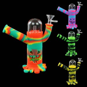 2020 New smoking pipes robot shape unique Tobacco Silicone Smoking Pipes Herb Cigarette Pipe Smoking Accessories dab rig bongs