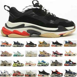 2020 s triplos 20fw das mulheres dos homens de moda de luxo sneakers plataforma sapatos de grife preto produzido brancos verdes do cinza dos homens do instrutor calçados casuais do vintage