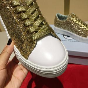Venda quente-outono Chiara sapatos low to top loafers de lazer de prata plataforma de ouro altura de sapato casual Aumentando sapatos