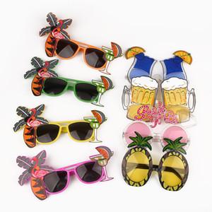 Бассейн партия Гавайи Пляж Фламинго Ананас Солнцезащитные очки Bachelorette Hen Night Stag Party Благоприятная карнавал партии украшения