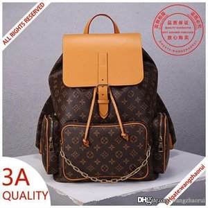 3A quality TRIO real leather backpack school bags men rucksack alpine rucksacks travelling bag with box