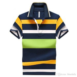 best selling 2020 ASIAN SIZE Men Polo Shirt Casual Striped Slim short sleeves shirts Cotton casual Men's Polos Plus size