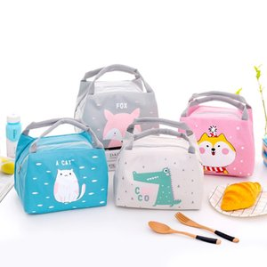 cartoon portable lunchbox thermal insulated food storage bag outdoor camping picnic tote cooler bento box for kids