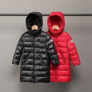 hooded cocoon design warm coat medium and long Warm down jacket down jacket children's wear medium and large children's parent-child