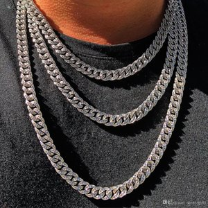 European and American hip-hop stainless steel diamond Cuba ice out miami cuban chain high quality free shipping