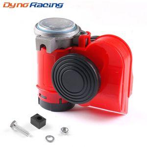 Caracol Rojo compacto de cuerno de aire 12V 115dB aire del coche camión multi-tono de 450 Hz Claxon cuernos de Coches Vehículos Motocicleta RV Barco