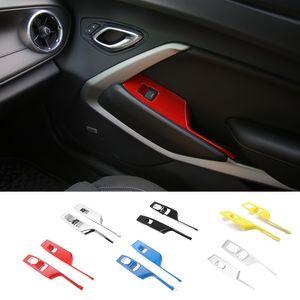Carro porta janela Elevador Botão Braço interruptor Painel Tampa guarnição ABS Decoração Faixa Para Chevrolet Camaro 2017+ Auto Acessórios Interior