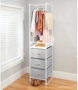 Unidad de almacenamiento modular Sistema organizador del armario, robusto bastidor de acero, tela Bins / estante de la ropa de dormitorio, vestíbulo, entrada, textura Prin