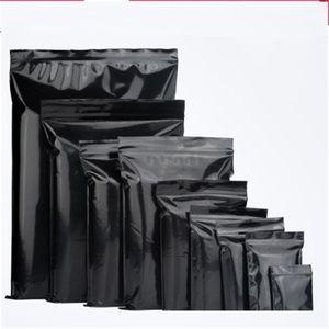 PE 셀프 실링 가방 블랙 컬러 평평한 바닥 매트 포장 가방 차 작은 파우치 식품 용기 인쇄 도매 0 21zc4 FF