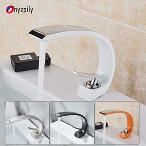 Onyzpily Bad-Bassin-Hahn-Messingchrom-Hahn-Bürsten-Nickel-Wannen-Mischer-Hahn-Vanity Hot Cold Water Badarmaturen