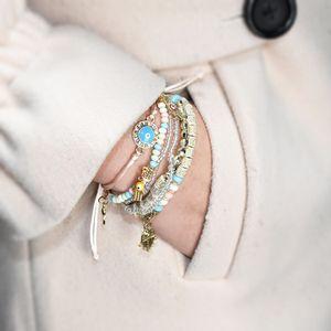Neue Art Art und Weise böhmisches mehrschichtiges Element wulstigen Armband Schmuck Geschenk