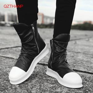 2018 Erkekler Motosiklet Boots Erkek ayakkabı Kaya PU Deri Açık Casual Su geçirmez Botları Erkek Ayakkabı Erkek Yetişkin Flats Erkek