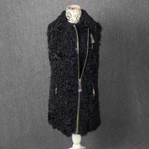 100%natural furreal lamb fur vest real sheep fur vest Good material