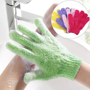 9 colori del bagno Guanti esfoliante guanti che idratano bagno Guanti Bagno Doccia Mitt Scrub Spa Massaggio Viso Corpo Ship DHD7