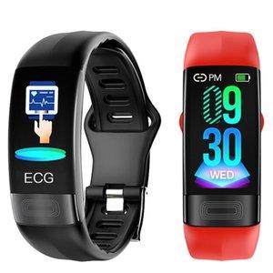 P11 Akıllı Bileklik Spor Akıllı İzle Erkekler Kadınlar Smartwatch EKG Bluetooth Bileklik Nabız Çağrı Mesajı Hatırlatma