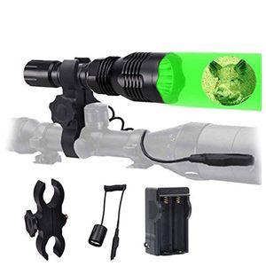 wf802 waterproof 350 lumens 228.6 m green CREE LED coyote HOG Pest hunting light kit with remote pressure switch & range   bike stand bracke