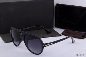 luxury top qualtiy New Fashion 0339 Tom Sunglasses Pilot For Man Woman Erika Eyewear Designer Brand Sun Glasses with original box