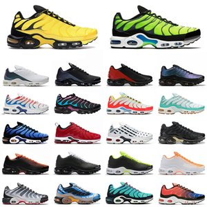 tn plus se Frequency Pack Running Shoes Men Women Scream Green triple black white Hyper Crimson Chaussures Outdoor Sports Sneakers 40-46