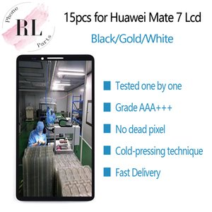 15PCS for original LCD HUAWEI Mate 7 LCD display touch screen digitizer spare parts MT7-TL00 for MATE7 Mate 7