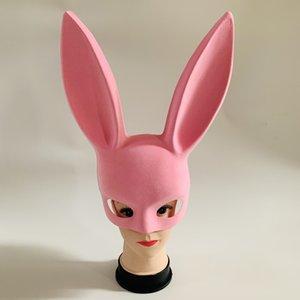 стекаются Длинные Уши кролика Банни маски партии костюма Cosplay Halloween Masquerade розовый / черный для 5шт выбор мини заказ / цвет бесплатная доставка